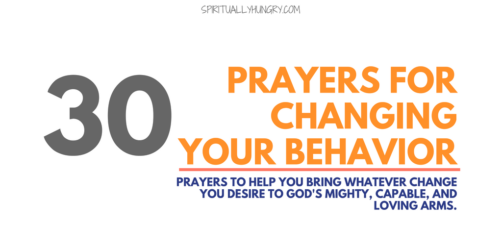 Prayer For Change - 30 Short Prayers - Spiritually Hungry
