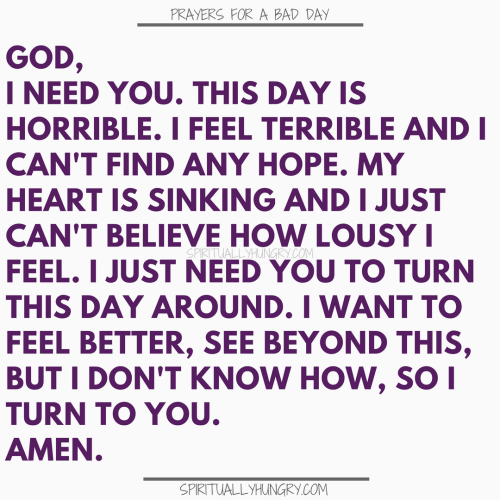 Prayer For A Bad Day | Prayers For A Bad Day