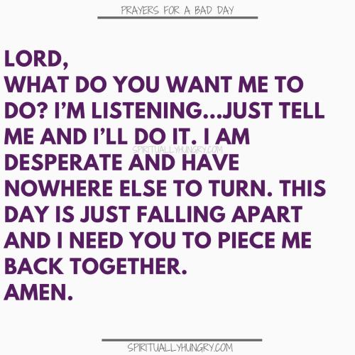 Prayer For Desperation | Prayers For Desperation