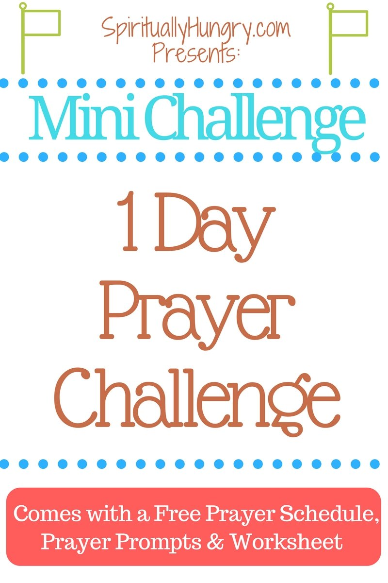 Are you ready to increase your prayer life? If so, challenge yourself to this 1 day prayer Challenge and see how your prayer life grows! All free materials included!