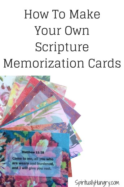 Scripture Memorization | Bible Verse Flash Cards | Bible Verse Gift Idea