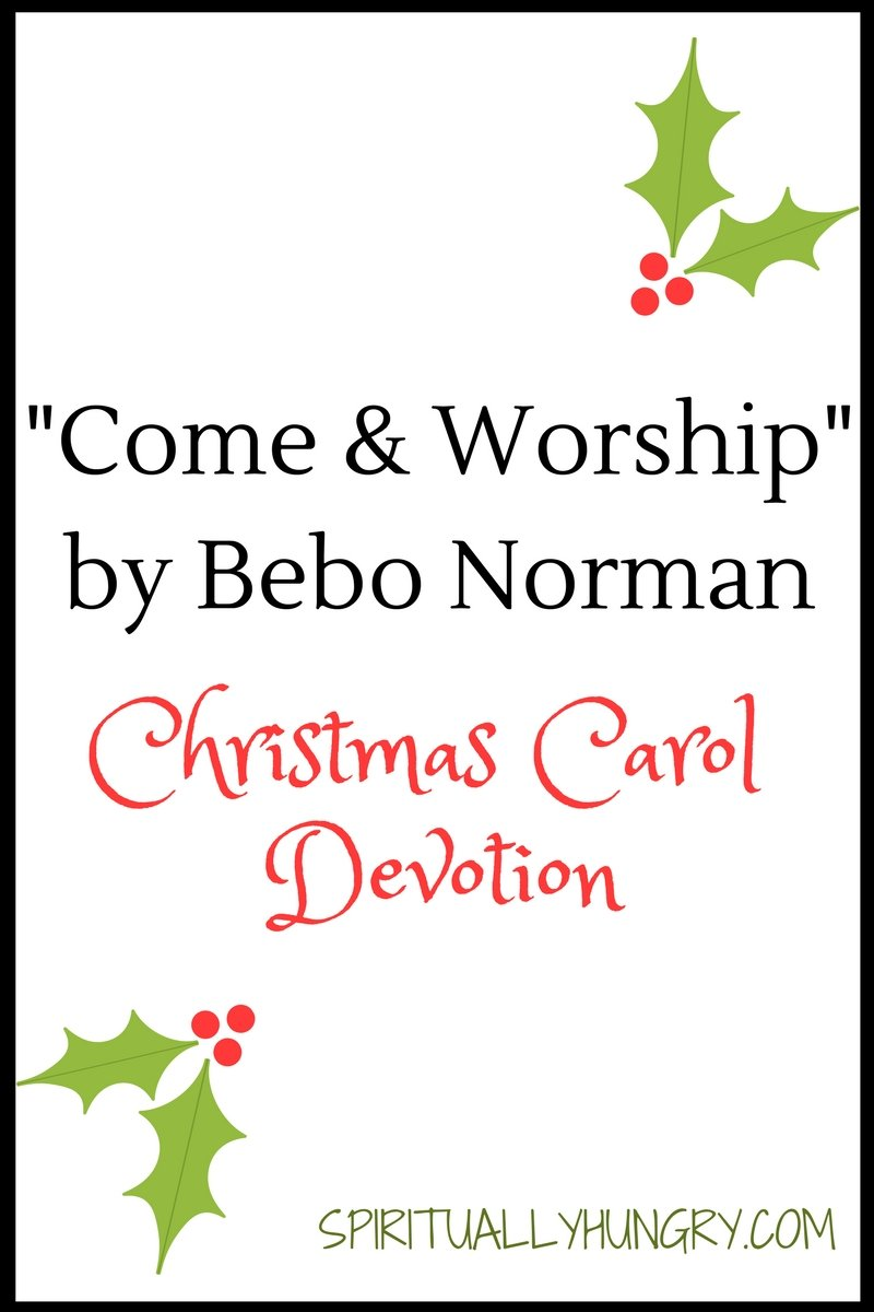 A devotional based off the Christmas worship song Come and Worship by Bebo Norman. Day 3 of the 25 Days of Christmas Worship Song Devotions.
