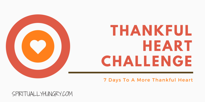 Christian Challenges, 30 Day Challenge, Thankful