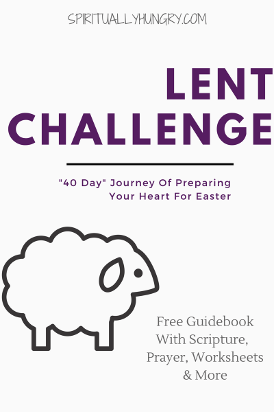 Lent Challenge, 40 Day Challenge, Christian Challenge