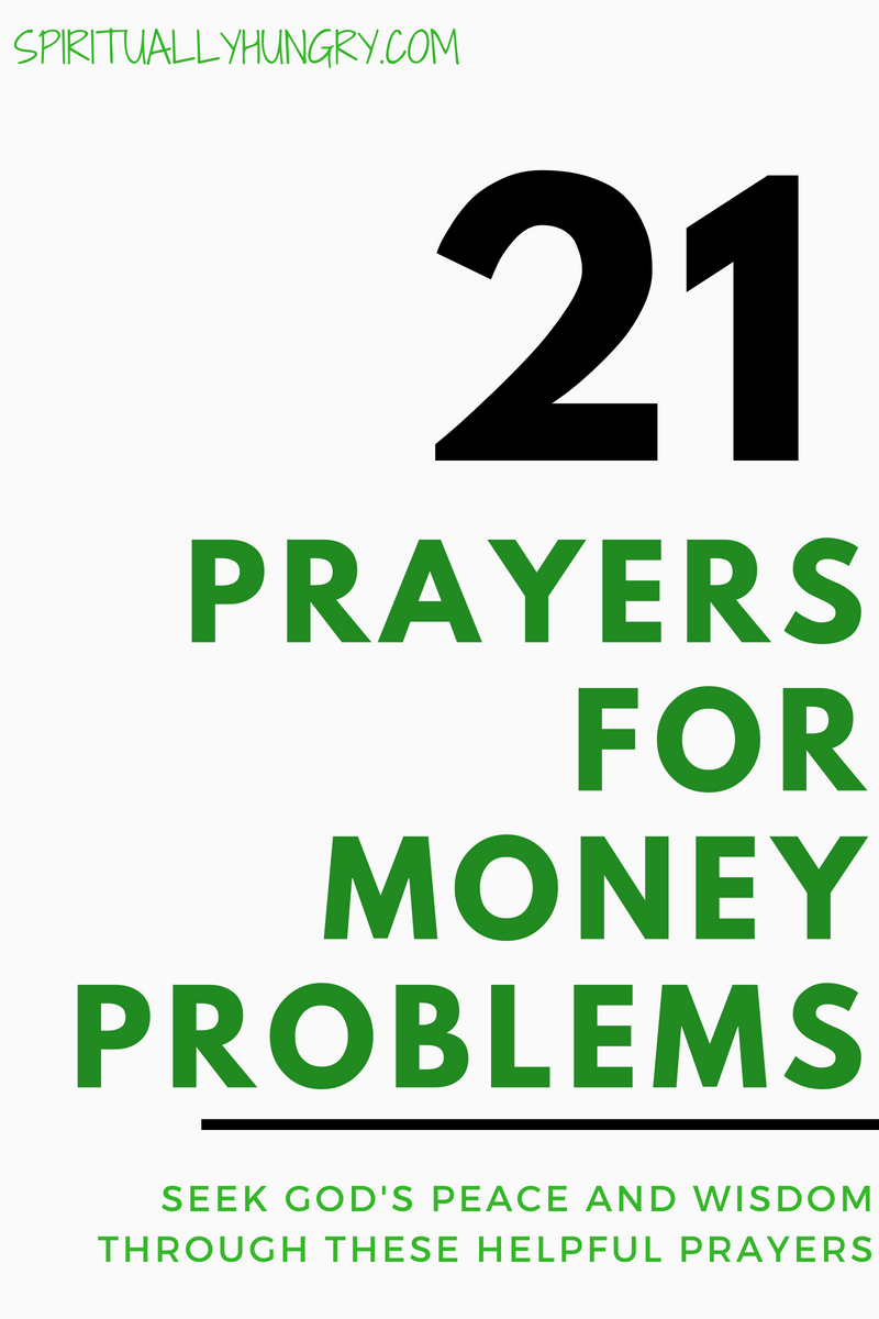 Are you having money problems? Are things tight or strained? God is always the solutions to all of our problems. We designed these prayers for you to be able to take your concerns and worry to God. 21 prayers for finances will help you seek God's guidance and wisdom with your money problems.