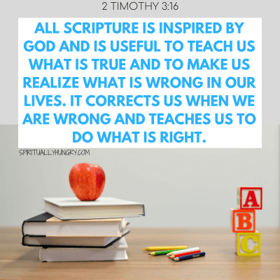 Bible Verses For Teachers