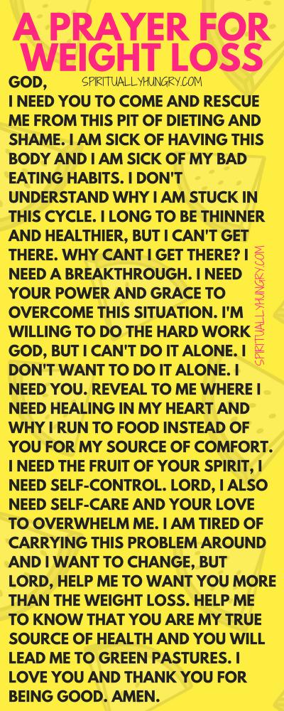 Weight Loss Prayer