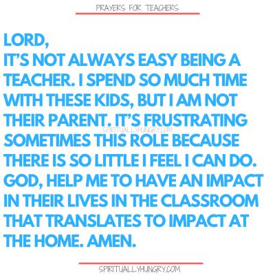 Prayer For Teachers