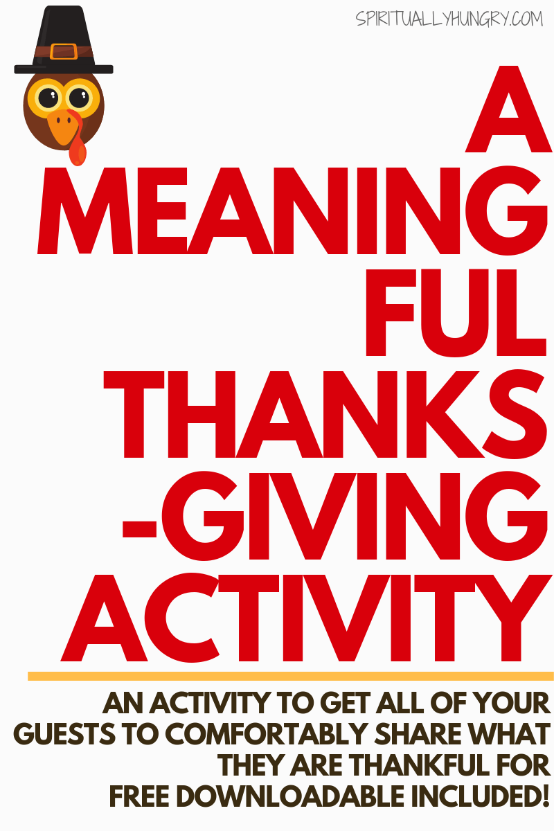 Are you looking for a meaningful Thanksgiving activity that all your guests will love and feel comfortable doing? This activity will help your loved ones share what they are thankful for without feeling awkward or uncomfortable. This can really make an impact on your Thanksgiving dinner and day!