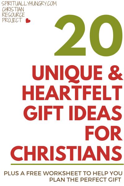20 Unique Heartfelt Gift Ideas