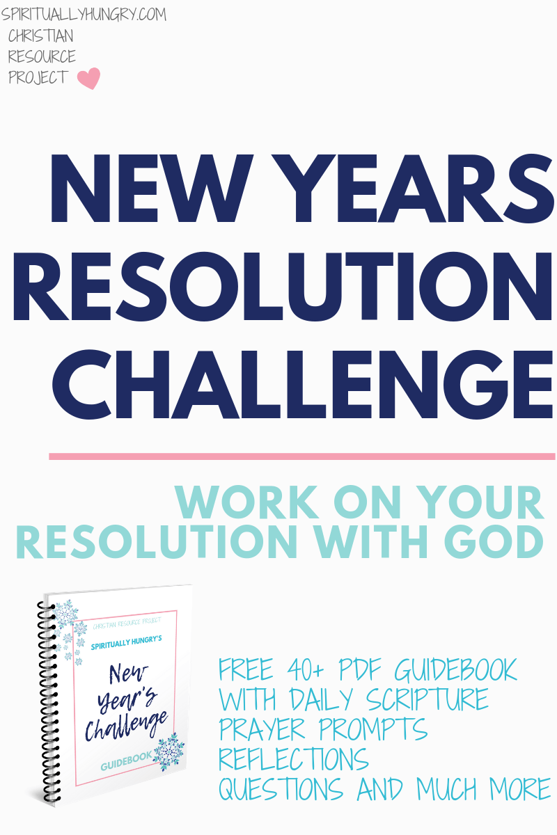 Start this New Year off with a bang by working on your resolution with God! This FREE 30-page guide will help you make the changes you desire, while teaching you the importance of depending on God's strength to guide and shape you.