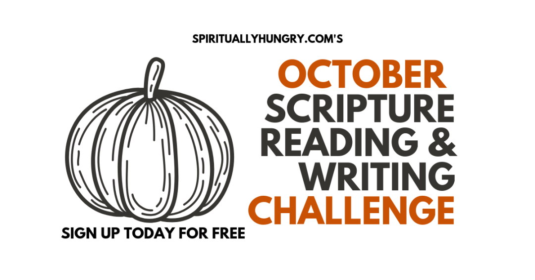 October Scripture Reading And Writing Challenge   Women's Bible Study   Scripture List