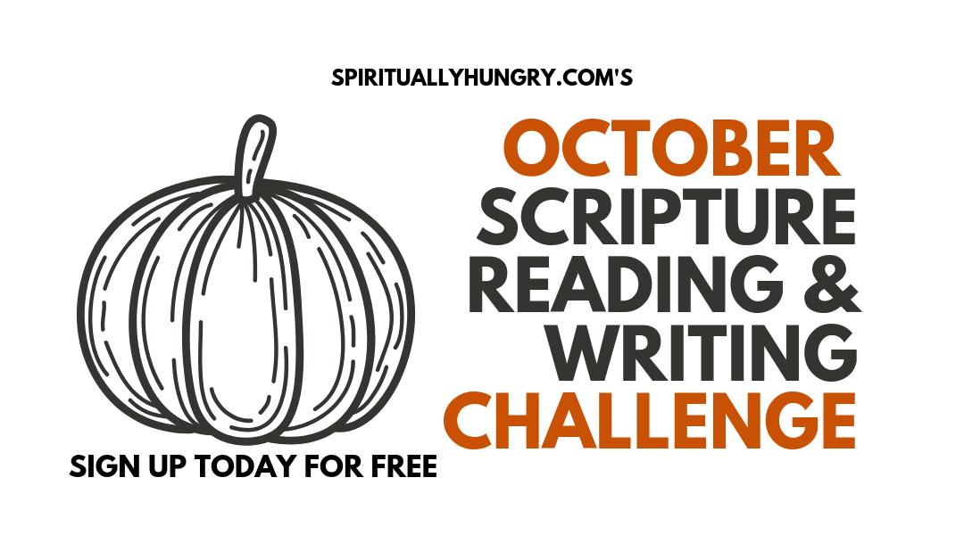 October Scripture Reading & Writing Challenge