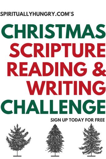Christmas Scripture Reading Challenge   Christmas Scripture Writing Challenge