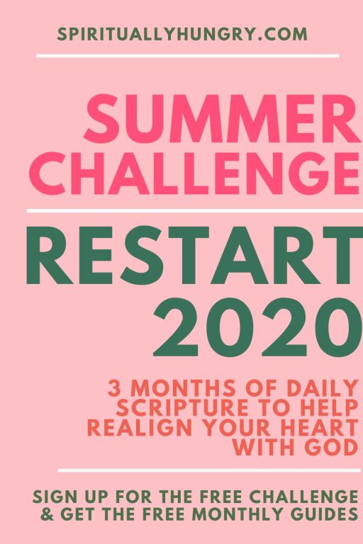 Restart 2020 Summer Scripture Challenge | Scripture Reading Plan | Scripture Writing Plan