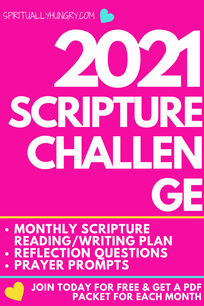 2021 Scripture Challenge | Bible Study | Scripture Writing Plan | Bible Verses For Women