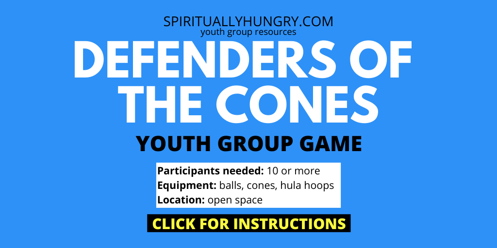 Defenders Of The Cones Youth Group Game Instructions | Youth Group Games | Games For Youth | No Prep Games