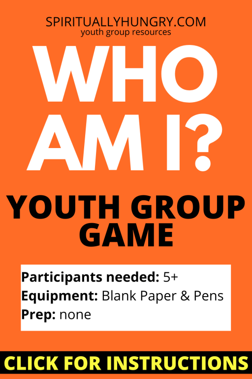 Who Am I Game Instructions | Youth Group Games | Games For Youth | No Prep Games