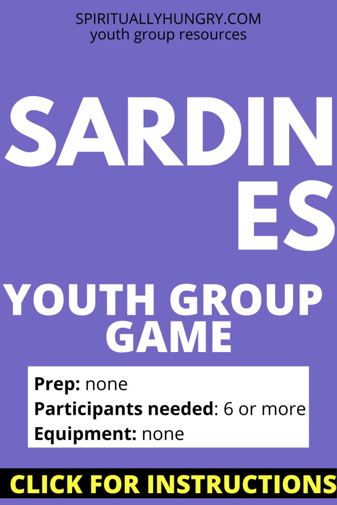 Sardines Youth Group Game Instructions | Youth Group Games | No Prep Games