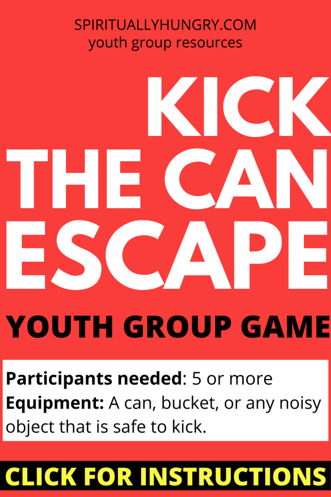 Kick The Can Escape Game Instructions | No Prep Youth Group Games | Youth Ministry
