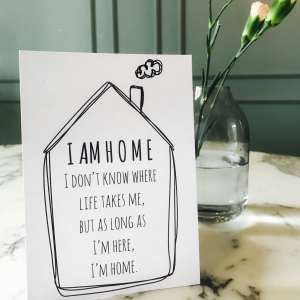 I am home postcard 1