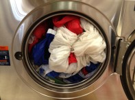 Washing spinnakers