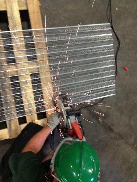 Cutting the metal lath