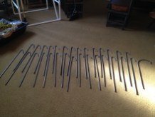 Finished rebar stakes