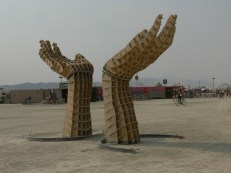 Burning Man 2013 hands sculpture