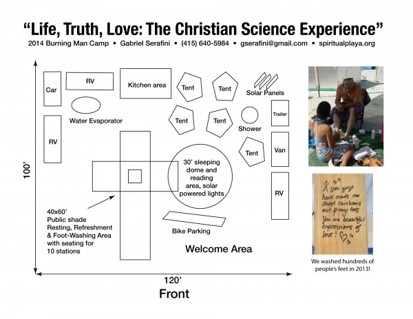 Revised 2014 Christian Science at Burning Man camp placement layout