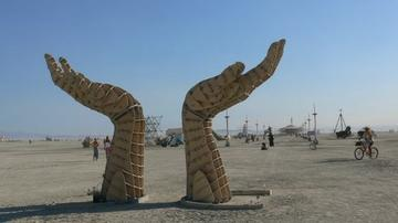 Burning Man hands
