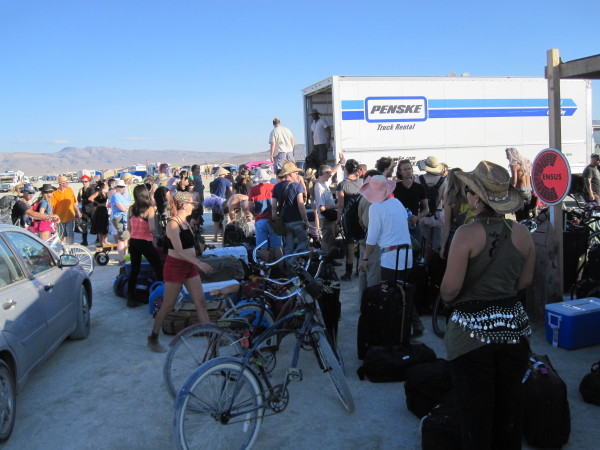 Burning Man luggage delivery