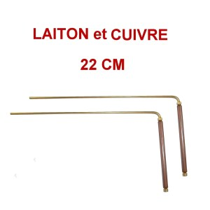 baguettes de sourcier de 22 cm