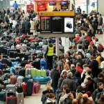 混雑した空港