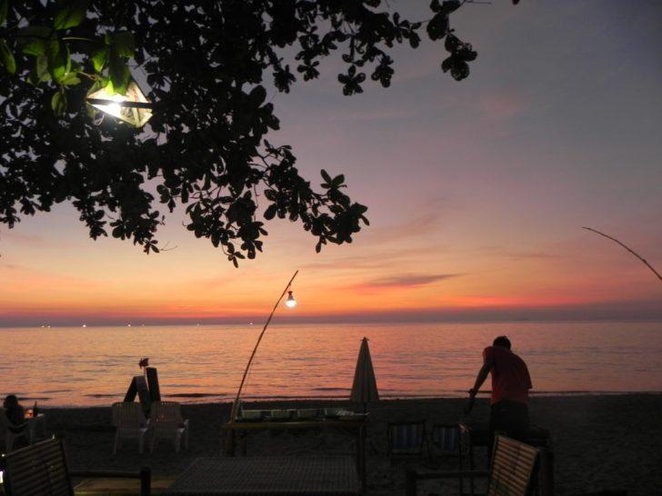 ランタ島の夕日