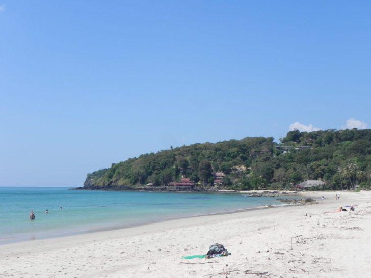 ランタ島南のプライベートビーチ