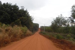 the road of ratanakiri in cambodia