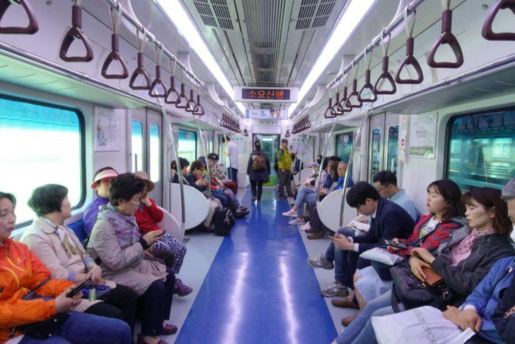 韓国の電車