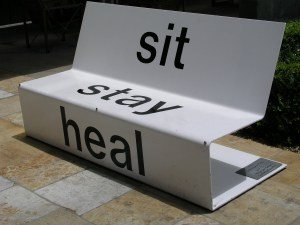 Healing and the arts bench