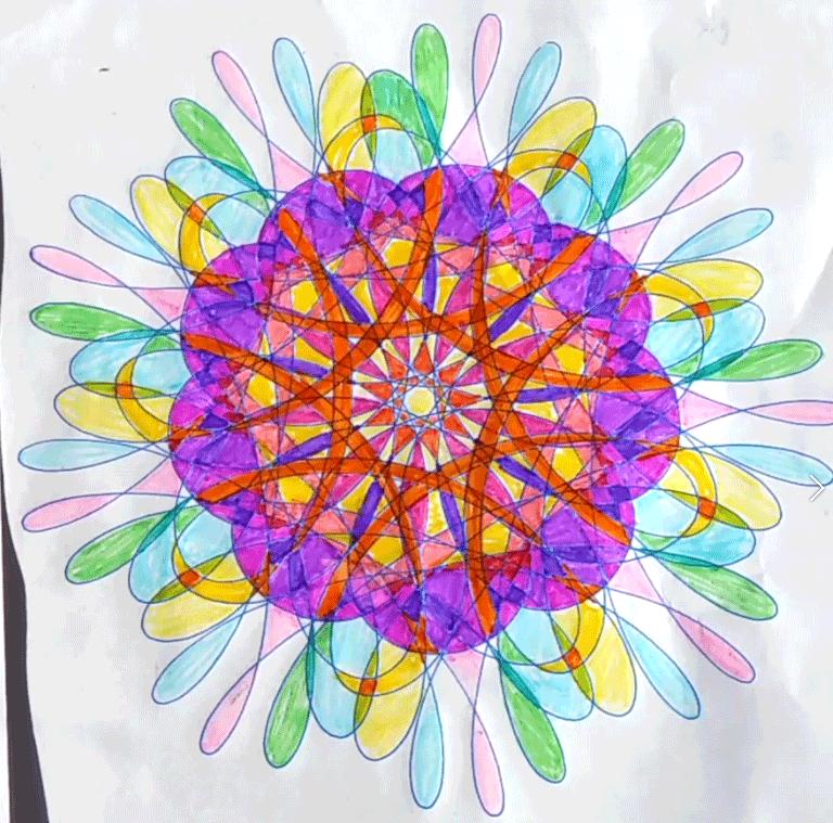 Coloured Wild Gears pattern
