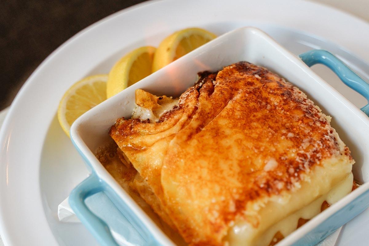 Spiros Mediterranean Cuisine - Flaming Cheese