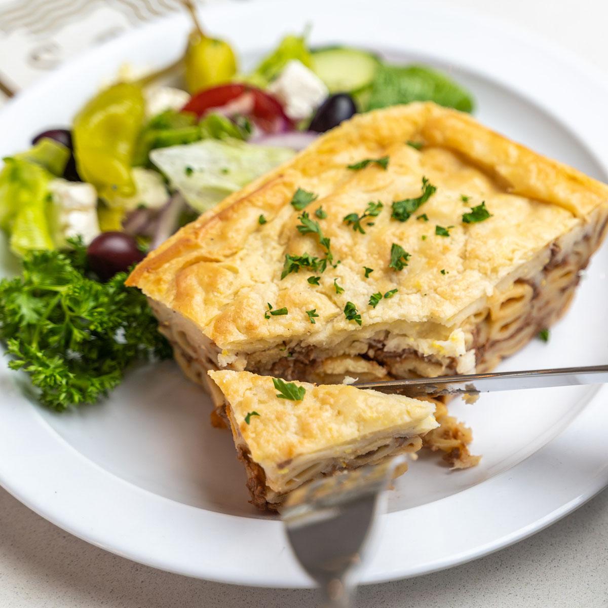 Mediterranean diet homemade Greek Pastitsio