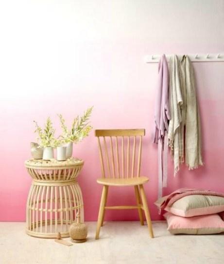 Το όμπρε βάψιμο στους τοίχους είναι μια τάση ιδιαίτερα δημοφιλής τελευταία.