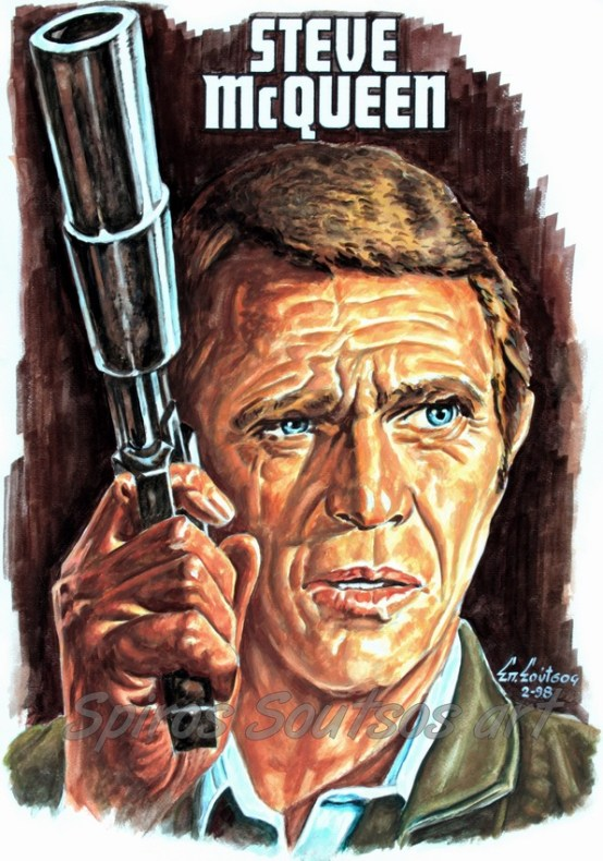 steve_mcqueen_portrait_painting_hunter_movie_poster
