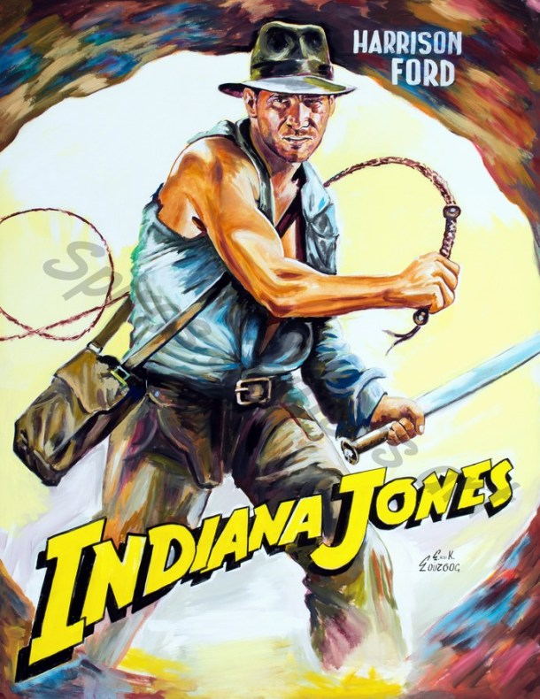 Indiana_jones_painting_movie_poster_harrison_ford_acrylic_canvas_portrait