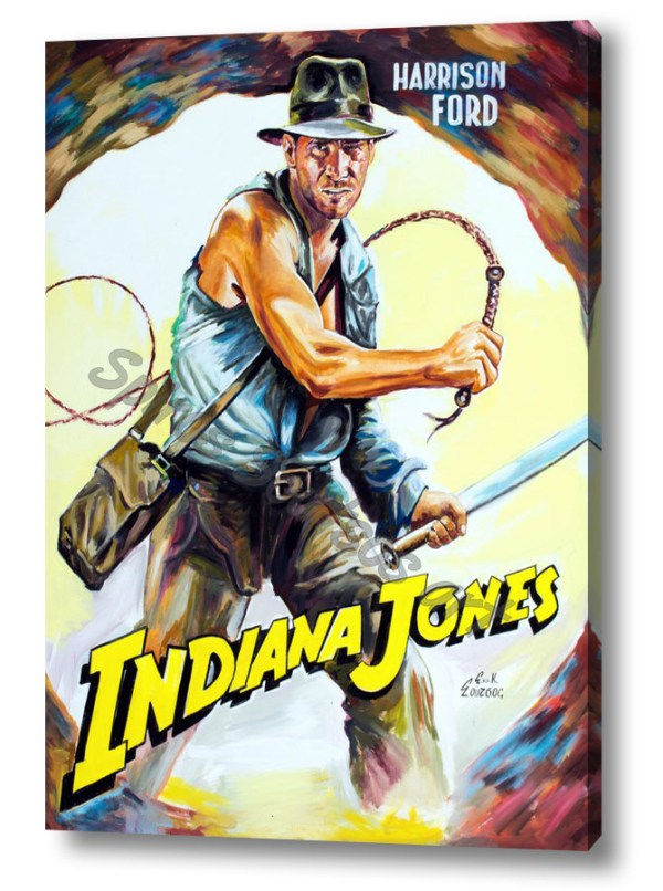 indiana_jones_harrison_ford_canvas_print_painting_poster