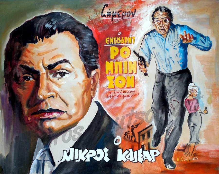 "Edward G. Robinson ""Little Caesar"" 1931, movie poster, acrylic painting"