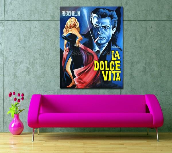 La_Dolce_vita_fellini-federico-movi-poster-painting_sofa1