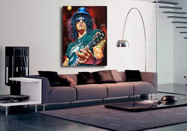 Slash_painting_portrait_Guns_Roses_poster_print_canvas_decoration