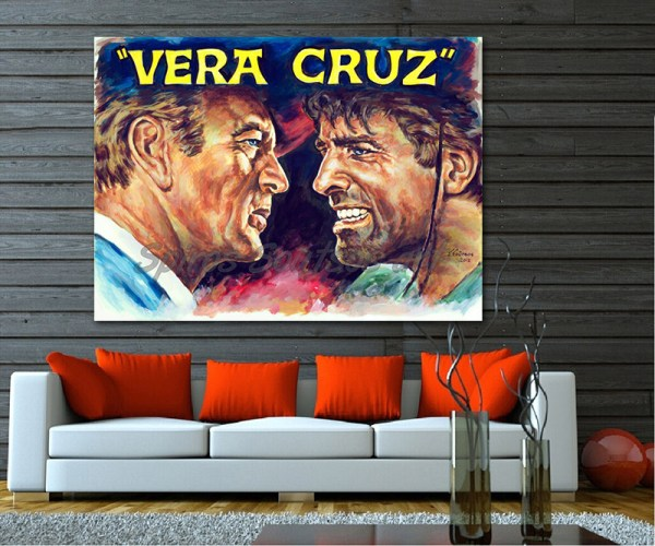 vera_cruz_movie_poster_gary_gooper_burt_lancaster_portraits_painting_print_canvas